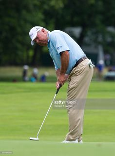 Mark O'Meara putts on the 11th green during round one of the 2017 US Senior Open Championship at Salem Country Club on June 29, 2017 in Peabody, Massachusetts.