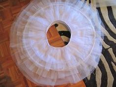 Tutorial para hacer un tutú  de ballet de plato con aro