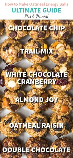 How to make Energy Balls – ULTIMATE GUIDE. One recipe, endless flavors! Easy recipe made with peanut butter, oatmeal, and chocolate chips or your flavor of choice. Simple, gluten free, and perfect for healthy snacks and breakfasts on the go! Recipe at wellplated.com