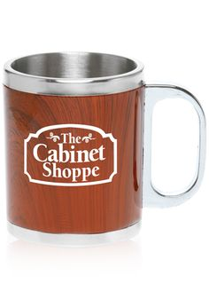 #TM1048 executive style stainless steel with wood drink mugs  #wood #mugs #coffeemugs #personalized #custom #printed