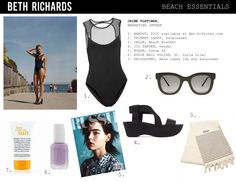 Black stretch-polyamide Sheer mesh yoke and trims, cutout back, partially lined Concealed hook fastening at back polyamide, elastane; Alexander Mcqueen Shoes, Surf Shorts, Beach Essentials, Ray Ban Sunglasses, Bardot, Athlete, Swimsuits, Sporty, Marketing