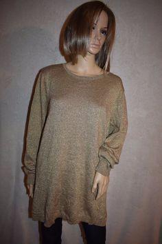 8afb1a13bb Lauren Ralph Lauren Sz 2x Gold Round Neck L s Long Sweater 101