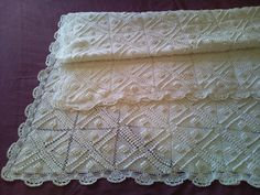 Heavy White Vintage 3D Hand Crocheted Large by ArtTreasures4You, €270.00