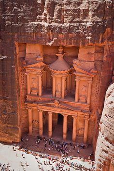 Pétra ,magnifique site nabatéen ,en Jordanie