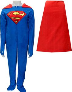 Caped Superman & Batman Onesie Pajamas For Grown-ups