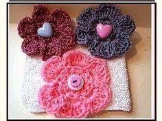 Crochet flower # 11, how to crochet a flower, video tutorial