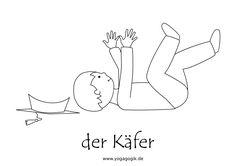 Kinderyoga Ausmalbild Käfer Yoga For Kids, First Grade, Workout, Wellness, Training, Trends, Kids Sports, Kids Fun, Preschool Teacher Tips