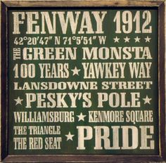 "Amazon.com - Fenway Park Boston Red Sox Vintage Sports Wall Decor 18""x18"" Wood Sign -45.00"