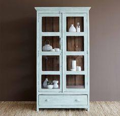 Light Mint Cabinet - $1940 #Vintage #Interior #Furniture  Shop More! http://originals.com.sg/collections/nomad-india-2016