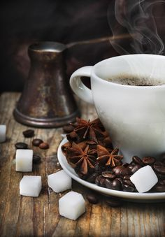 coffee, star anise and sugar