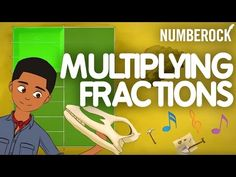 Multiplying Fractions by Whole Numbers, Multiplying Whole Numbers by Fractions, and Fractional parts of a Whole are all ways to describe this fun math song. Multiplying Fractions, Teaching Fractions, Teaching Math, Dividing Fractions, Multiplication, Maths, Equivalent Fractions, Creative Teaching, Teaching 5th Grade