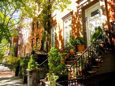 Beautiful 19th century townhouses in Greenwich Village