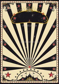 Circus vintage sunbeams — Vektorgrafik #10616736