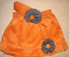minifalda en pana para beba con vincha