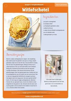 Witlofschotel Sonja Bakker Healthy Low Calorie Meals, Low Calorie Recipes, Healthy Eating, Healthy Recipes, Good Food, Yummy Food, Skinny Recipes, Skinny Meals, Budget Meals
