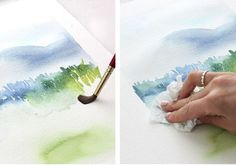 The Alison Show: Watercolor Tutorial Part 3: Mark Making