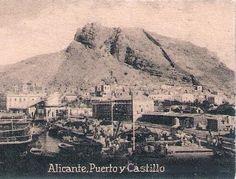 Imágenes antiguas del puerto de Alicante años1930......En el siglo XVIII, la barrilla (planta usada antiguamente para producir la sosa) y la sosa constituían, con el 80%, las principales exportaciones del puerto, muy por delante de las exportaciones de frutos secos; las principales importaciones eran de trigo y salazones.