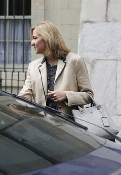 Infanta Cristina of Spain is seen on 24.06.2014 in Geneva, Switzerland. Infanta Cristina has been charged today by judge Castro with money laundering and fiscal fraude.