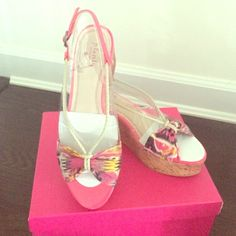 Plenty by Tracy Reese Wedge Sandals New, fun, the pop of color your wardrobe needs!!! Tracy Reese Shoes Sandals