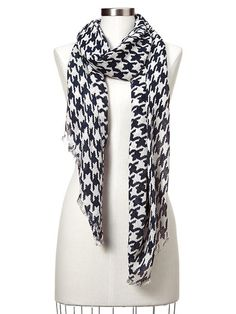 Houndstooth Scarf - true indigo from Gap on shop.CatalogSpree.com, your personal digital mall.