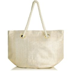 OASIS Gold Straw Shopper ($29) ❤ liked on Polyvore featuring bags, handbags, tote bags, metallics, shopping tote bags, gold tote, purse tote, hand bags and handbag tote