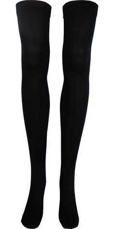 c005214612a Solid Opaque Thigh High in Black Black Thigh High Socks