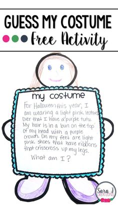 Free guess my costume craft printable!  I'm using this for Halloween in the classroom this year!