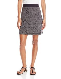 Women's Athletic Skirts - ExOfficio Womens Wanderlux Reversible Texture Skirt * For more information, visit image link.