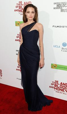 Angelina at the Los Angeles premiere of 'In the Land of Blood and Honey' on December 8, 2011.