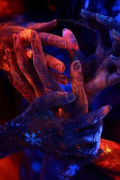"Madrhiggs will have many hands. Cool and creative photography by UV ""Black Light"". Art London"