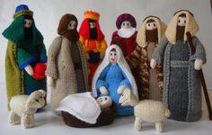 Knitted Nativity Set by rosieknittinglove on Etsy, $200.00