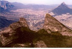 One of my favorite Monterrey photos; taken from behind/above the Cerro de la Silla (saddle) overlooking the city and the mountains!