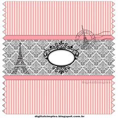 Nice Free Printable Candy Bar = Candy Station = Candy Buffet = Candy Table Labels with Beautiful París Design . Hens Party Themes, Birthday Party Decorations For Adults, Hen Party Decorations, Paris Birthday Parties, Adult Party Themes, Adult Birthday Party, Paris Party, Paris Theme, Candy Bar Wrapper Template