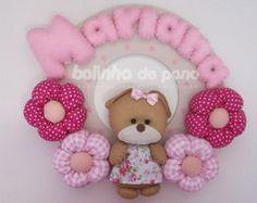Enfeite Porta Maternidade Ursa Pink
