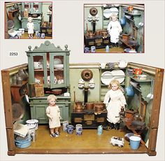 Dollhouse Divided Party Serving Platter with Gilded Edge Doll House Miniature