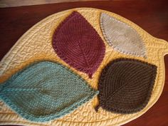 Ravelry: Autumn Leaves Coasters pattern by Evelyn Uyemura