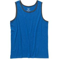 Faded Glory Men's Solid Tank, Size: Small, Blue