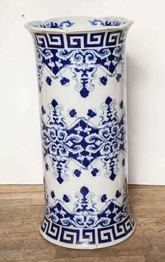 Image result for asian blue and white porcelain umbrella stand