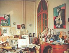 Picasso's fantastically messy studio (and other artists' abodes).