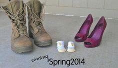 Cute pregnancy announcement! 2014 #military #usmc #heels #pregnant