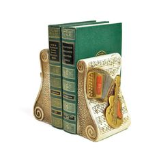 Vintage Rustic Musical Bookends Set: Violin and accordion, cute musician home decor. Available from OneRustyNail on Etsy. ► http://www.etsy.com/shop/OneRustyNail