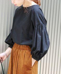 シャツ・ブラウス Unique Fashion, Womens Fashion, Fashion Design, Unique Clothes For Women, Apron Dress, Japan Fashion, Blouse Styles, Wabi Sabi, Simple Dresses