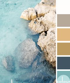 turquoise water with rocky cliff, color palettes, color combinations, color sche. Taupe Color Palettes, Color Schemes Colour Palettes, Gold Color Scheme, Gold Palette, Pastel Colour Palette, Colour Pallette, Color Combinations, Gold Color Combination, Turquoise Water