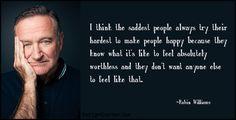 Sie endet mit einem Zitat, das Robin Williams zugeschrieben wird: | Diese Frau macht mit ihrem besonderen Tattoo auf Depressionen aufmerksam