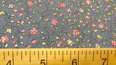 NEW 100% Cotton Concord House COUNTRY FLORAL Blue Vine Flower Print Fabric BTY
