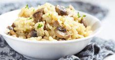 Recette de Risotto aux champignons au Thermomix®. Facile et rapide à réaliser, goûteuse et diététique. Ingrédients, préparation et recettes associées.