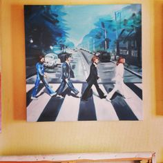 """Beatles """"Abbey Road"""" painting, by Claire Guillaumet"""