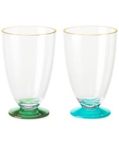 kate spade new york Set of 2 Acrylic Green and Turquoise Tumblers - Dinnerware - Dining & Entertaining - Macy's