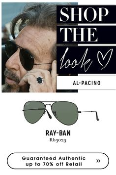 Sunglasses Have a perfect look with Ray-Ban Aviator Large Metal Sunglasses - BLACK Choose from Ray-Ban collections for variety of authentic Sunglasses Black Sunglasses, Mens Sunglasses, Ray Ban Rb3025, Ray Ban Men, Al Pacino, Get The Look, Eyeglasses, Aviation, Ray Bans