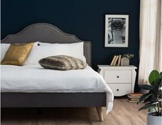 Structube | CAMILLE - Queen size bed - Grey | $469